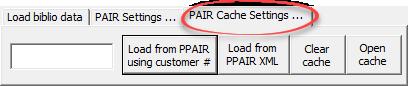 PAIR cache settings