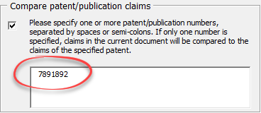 compare claims to patent