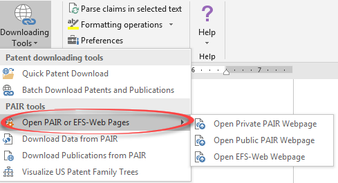 pair efs-web pages