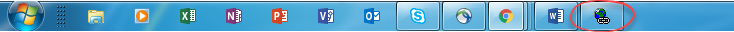 IE widget minimized