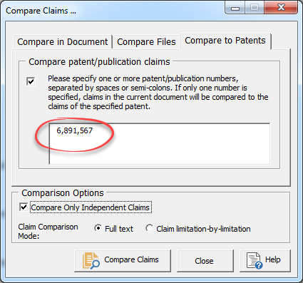 issued patent proofreading dialog