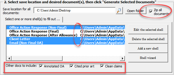 Improved Office Action Shells, Forms, and Biblio Data Import