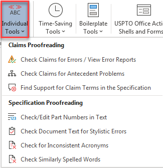 Proofreading Patent Documents With ClaimMaster