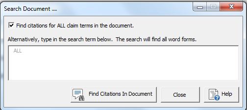 claim citations selector