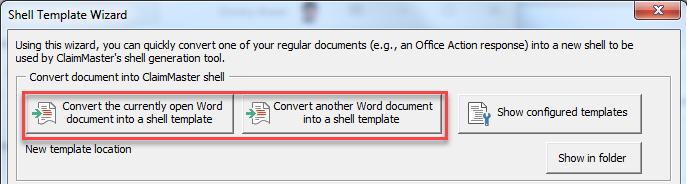 oa shell document selection