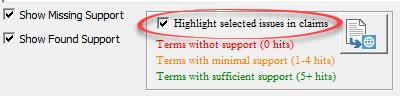 spec support highlight
