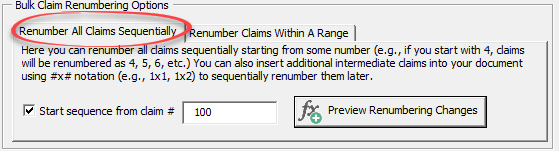 renumber claims sequentially