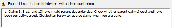 claim numbering issues
