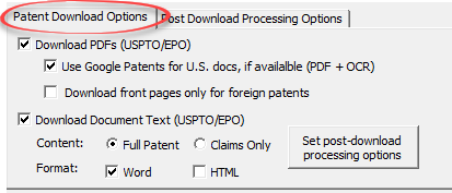patent download options