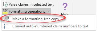formatting-free document