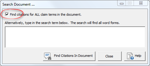 find citations for all claim terms