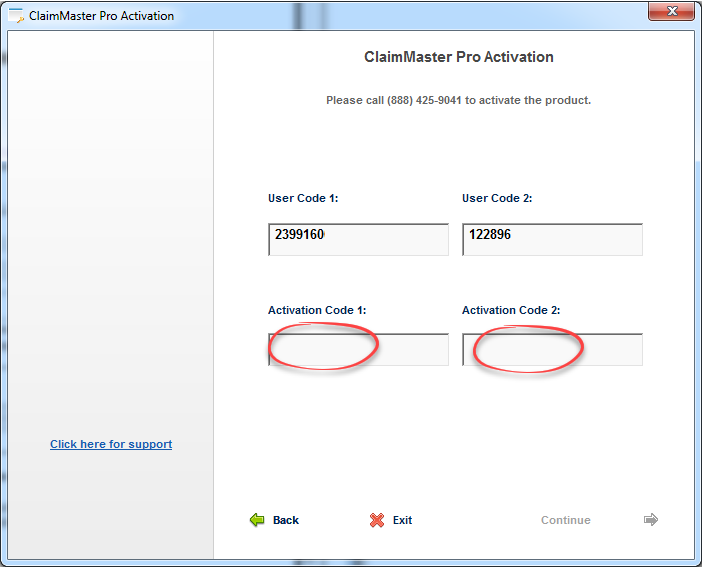 copy the product license key provided by code42 and paste it into the field below